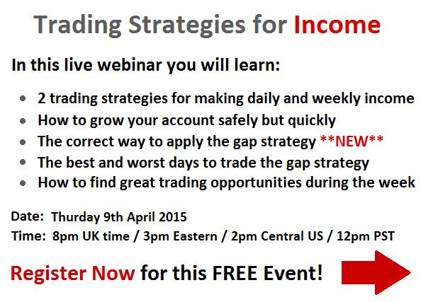 Trading strategies for earnings